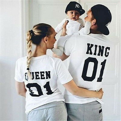 T-Shirt King Queen Princess Prince Love Matching Tee Family Couple Shirts Casual