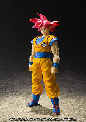 Dragon Ball Super S.h Figuarts Goku Gokou God Figure New Nueva Bandai.pre-Order