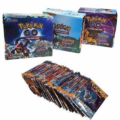 324pcs 36 packs Pokemon Go Card Rare TCG Booster Box English Edition Break