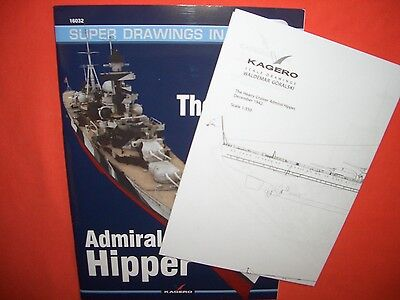 Kagero 3D Super Drawings 32, The Heavy Cruiser ADMIRAL HIPPER