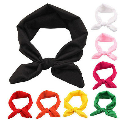 8Pcs Baby Girl Headband Toddler Headdress Child Hairband Elastic Z2G1