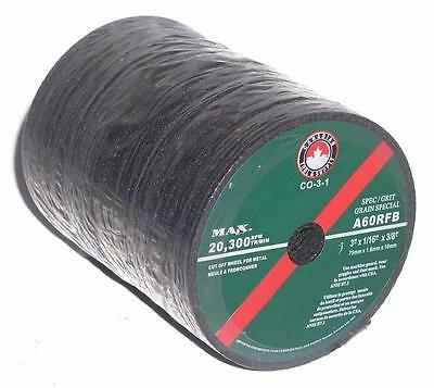 "Canadian Tool and Supply 50 pack 3 Inch x 1 16"" Cut Off Wheel For Air 8""..."