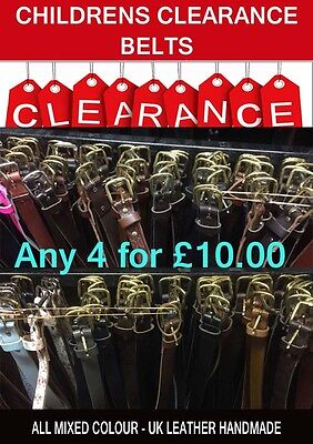 Kids Special Clearance Offer New Condition Leather Kids Belts Uk Made