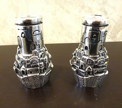 Set 2 Candle Holders Jerusalem Amy Sterling Silver 925 Shabbat Candlesticks