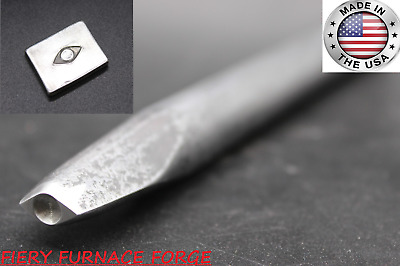 NEW! Hand-Forged Blacksmith Eye Punch - Standard Shape - made from 5160