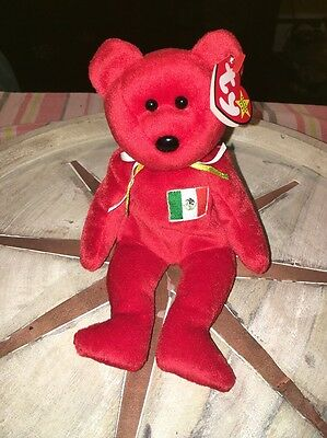 TY Beanie Baby Osito the Bear Rare with Errors