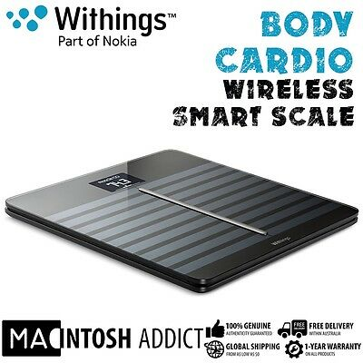 Withings Body Cardio Bluetooth Smart Fitness Scale | Composition | Heart Rate