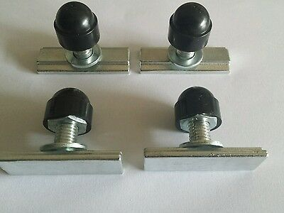 unwin tracking removable seat fixings bus van t bar 25mm x 4 t bolts m2 fixings
