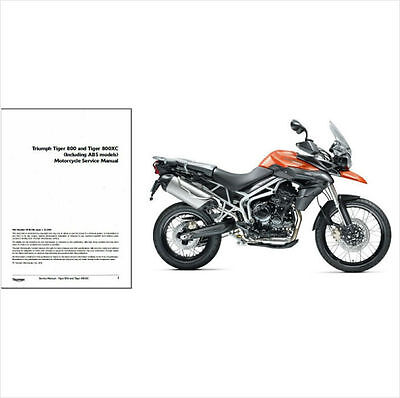 2010 2011 2012 2013 Triumph Tiger 800 / 800XC Service Repair Manual on a CD