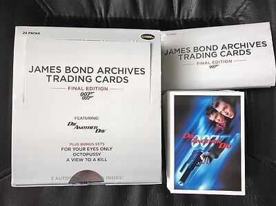 James Bond Archives Final Edition Complete Base Set 83 Cards -Empty Box/Wrappers