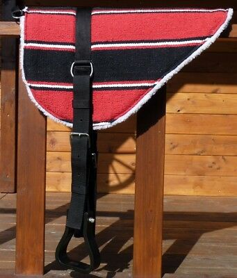Bareback pad with Stirrups - - Saddle - cushion -