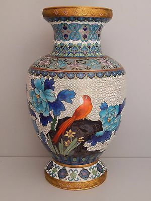 Vintage Chinese cloisonne 26 cm tall Vase - Great design