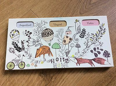 Paperchase Woodland List Pad Important Urgent Notes Home Sweet Home Note Pad