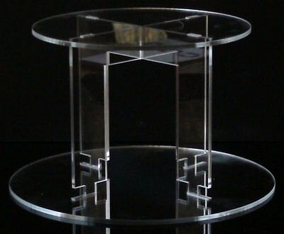 TK 2 Tier Round Clear Acrylic Cupcake Party Wedding Cake Display Tower Stand