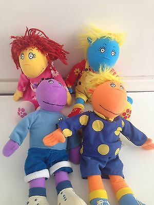 Tweenies Dolls Fizzy, Bella ,Jake And Milo  Approximately 15 Inches 1998 Hasbro