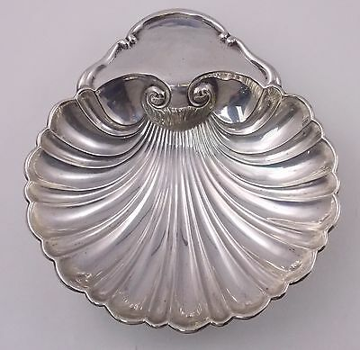 "Vintage Mueck-Carey Co. Sterling Silver Footed Shell Dish Bowl 7"" 181g (#5540)"