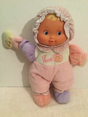 BERENGUER Lil' Hugs Plush Baby's 1st Doll Crackle & Rattle 32cm Tall VGC