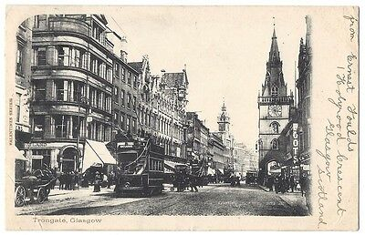 GLASGOW Trongate, Old Postcard by Valentine Postally Used 1903