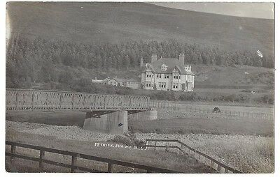 ETTRICK Selkirkshire, Large Country House, RP Postcard Postally Used 1909