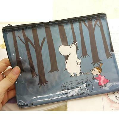 Moomin Characters Moomin Little My Blue Forest PVC A5 Size Zipper Case A