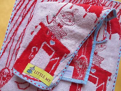 Moomin Little MY Red Mini Embroidery  Hand Towel one piece A