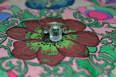 Bague or gris Aigue-marine et diamants