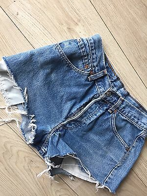 Levi's Women's Denim Shorts Vintage 90s Blue Jean Hot Pants High Waisted W30 L30