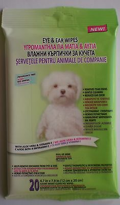 EYE & EAR WIPES FOR PETS Pack of 20