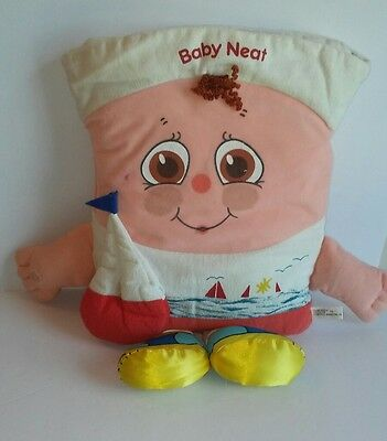 "VINTAGE 80s PILLOW PEOPLE sailor baby messy neat clean 18"" STUFFED PLUSH rare"