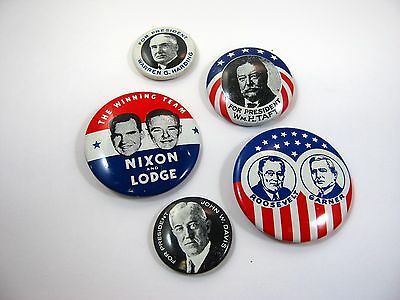 Vintage Collectible Pins: Collection of Political Pins Kleenex 1968
