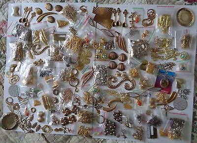 Rare Bulk Gold Plated Jewellery Findings Pendants Collection Great Variety 1