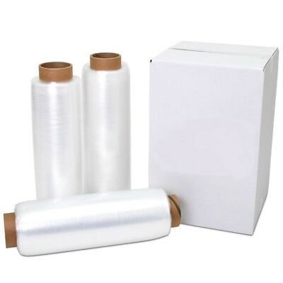 "12"" x 1500' 80 Gauge 8 Rolls Pallet Wrap Stretch Film Hand Shrink Wrap 1500FT"