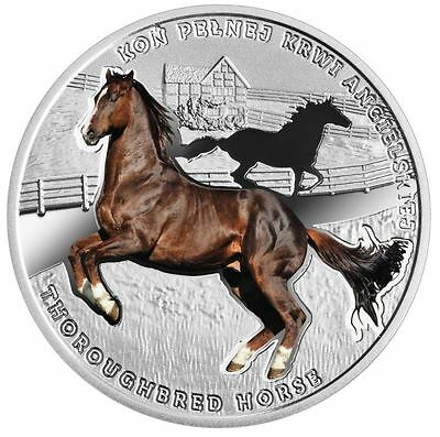 2017 Niue fine silver 1$ coin Thoroughbred Horse – Man's best friends - horses