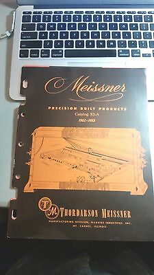 VINTAGE MEISSNER 1952-53 Electronics Products Catalog. USA