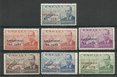 SPANISH IFNI 1949. Beaiful series of 7  New stamps**.         (4664)