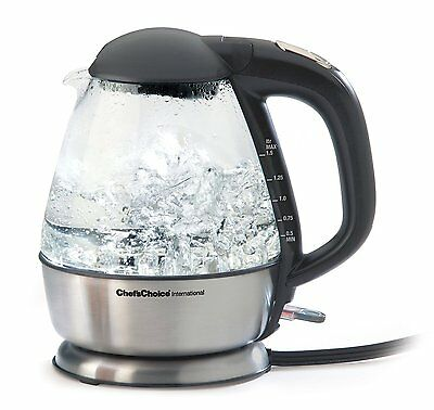 Chefs Choice Electric Kettle - Cordless - Glass - 1¾ qt