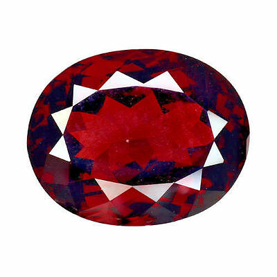 10.600Cts MASTERPIECE COLLECTIONS! TOP LUSTER RED NATURAL RHODOLITE GARNET OVAL