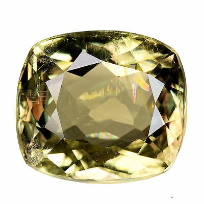 7.835Cts Mesmerizing Luster Color Change Yellow Natural Diaspore Cushion