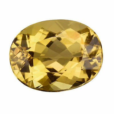 6.605Cts FLAWLESS OUTSTANDING LUSTER GOLDEN YELLOW NATURAL BERYL (HELIODOR) OVAL