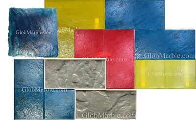 Concrete Stone, Slate Pattern Stamps SM 2200. 7 Piece Set. Rotating Stamps