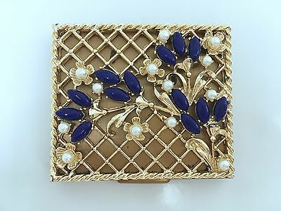 PAUL FLATO for S.F.Co 5th AVENUE JEWELED POWDER COMPACT 1940 VINTAGE CASE