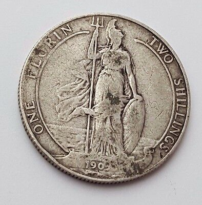 Dated : 1905 ? - Silver Coin - Two Shillings / One Florin - King Edward VII