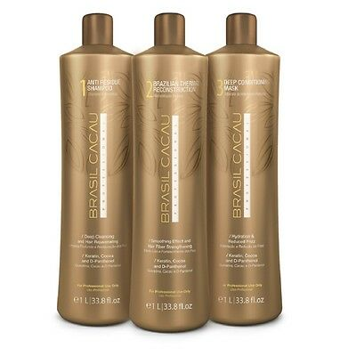 KIT LISSAGE  BRASIL CACAU 3 x 100 ML + shampoing 200ml offert Reconditionné