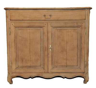 Antique Rustic Oak French Country Cabinet Nice Bleached Finish Circa 1920