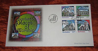 Barbados Official First Day Cover - 2013 - Places of Worship