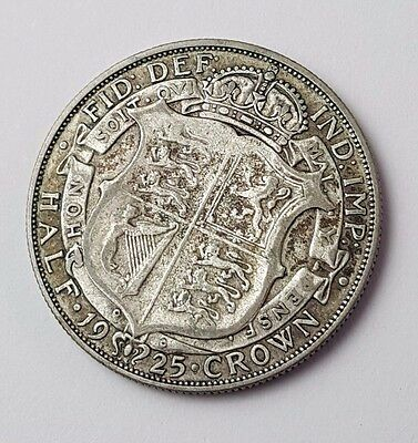 1925 - Silver Coin - Half Crown - Great Britain - King George V - English UK