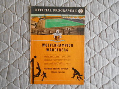 Wolves V International Xi Wright & Mullen Testimonial Match Programme 1962