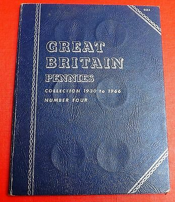 British  Whitman Folder  For  Pennies 1930 To 1966