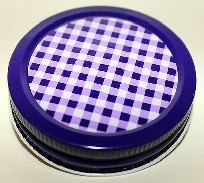 Orchard Road Canning Canning Jar Caps - Gingham/ Purple