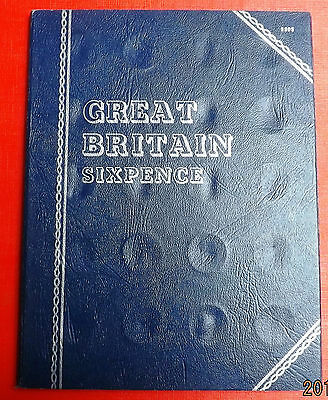 British  Whitman Folder For Sixpence No Date No Coins